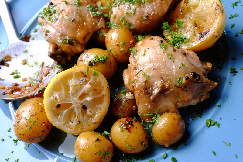Slow Cooker Lemon Chicken and Potatoes LEMONS