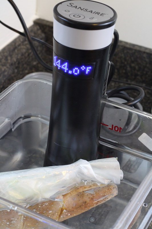 sansaire immersion circulator cooking pork chops