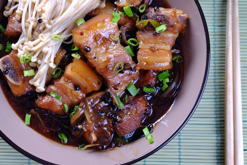 Slow cooker black pepper pork slow cooker black pepper pork belly asian dish forumfinder Choice Image