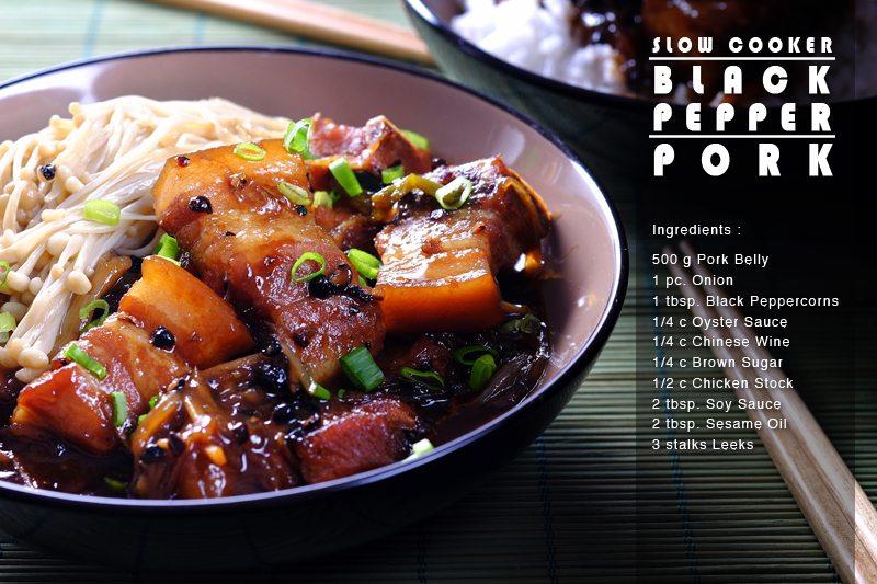 Slow cooker black pepper pork slow cooker black pepper pork full recipe forumfinder Images