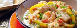 Slow Cooker Moqueca (With Shrimp & Tilapia)