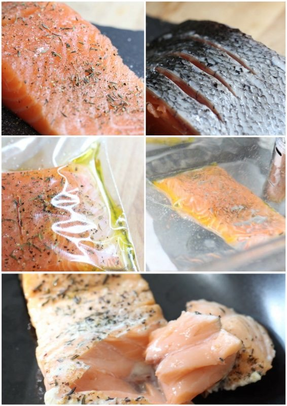 sous vide salmon cooking