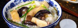 Slow Cooker Chicken & Mushroom Congee