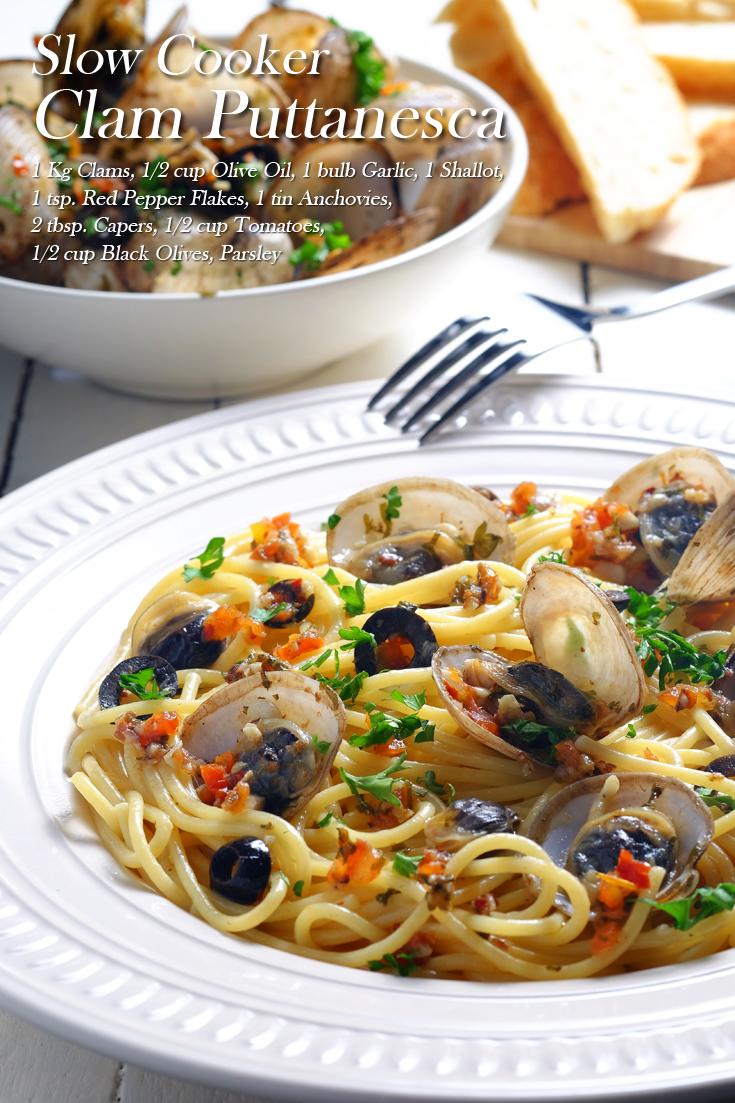 Slow Cooker Clam Puttanesca Full Recipe at FoodForNet.com