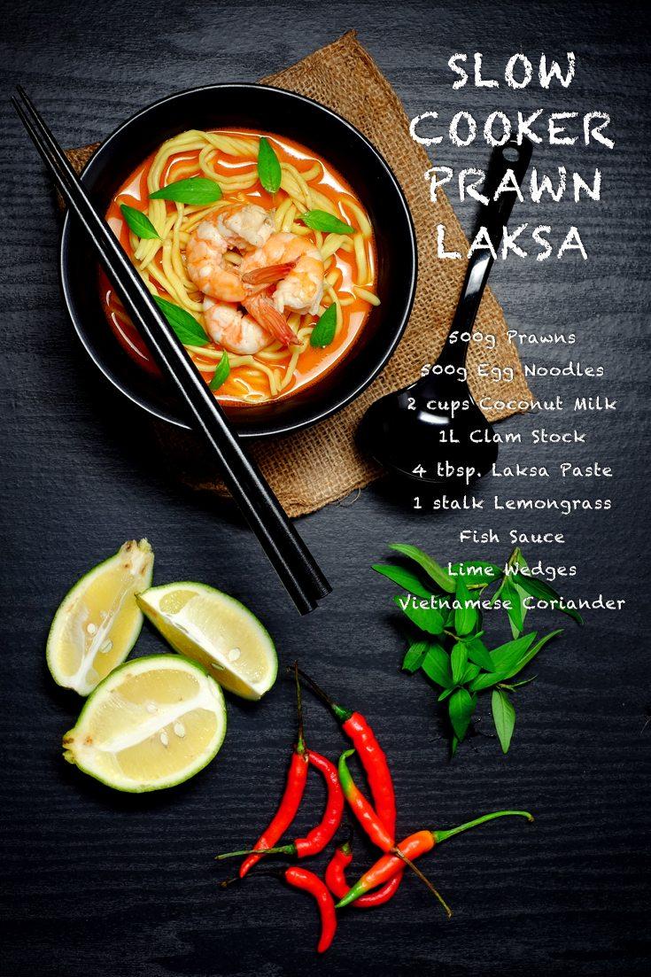 Slow Cooker Prawn Laksa Full Recipe at FoodForNet.com