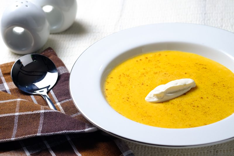 Slow Cooker Squash and Apple Bisque