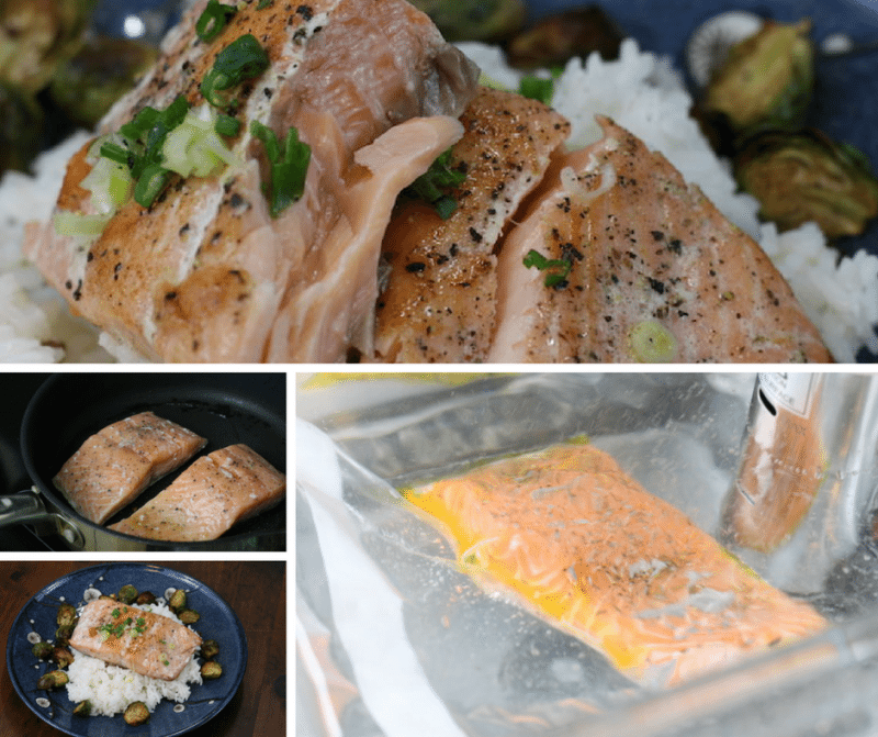 cooking sous vide salmon with the Nutrichef Prime immersion circulator