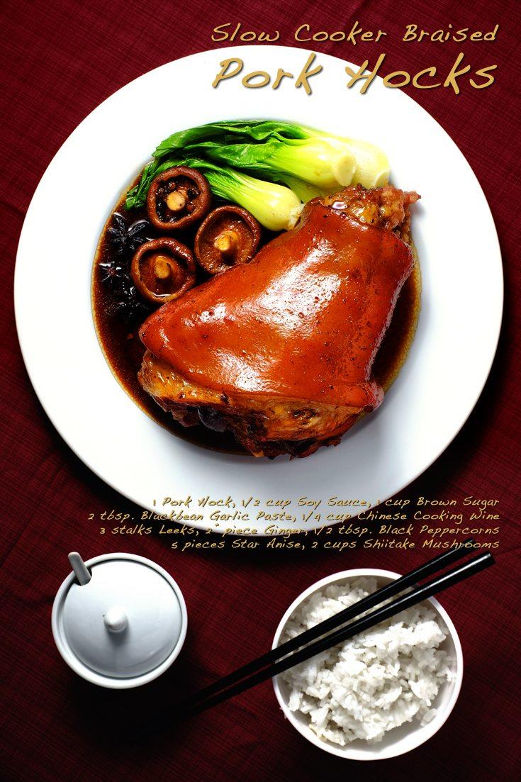Slow Cooker Braised Pork Hocks full recipe on FoodForNet.com