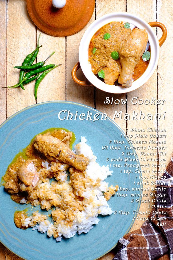 Slow Cooker Chicken Makhani full Recipe on FoodForNet.com