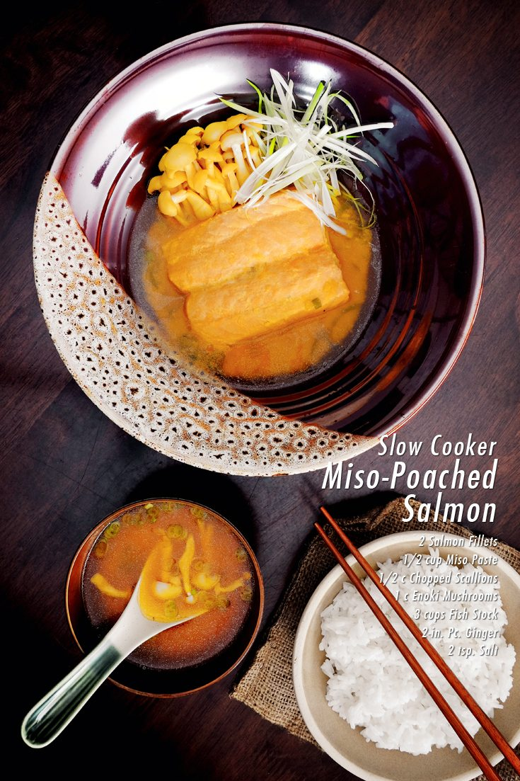 Slow Cooker Miso-Poached Salmon Full Recipe at FoodForNet.com