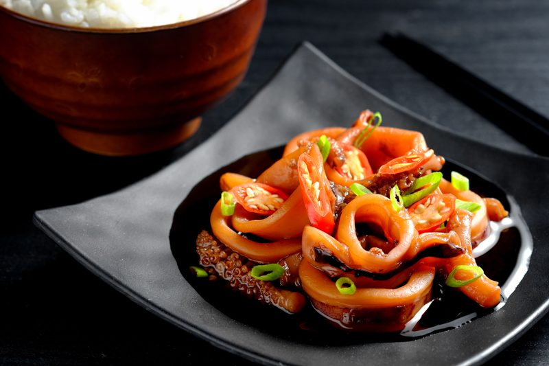 Slow Cooker Soy-Ginger Braised Squid