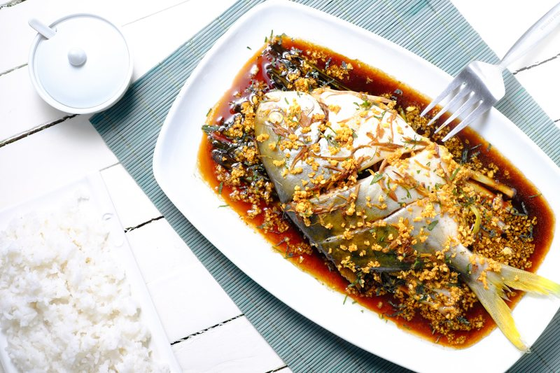 Slow Cooker Soy-Ginger Steamed Pompano Recipe