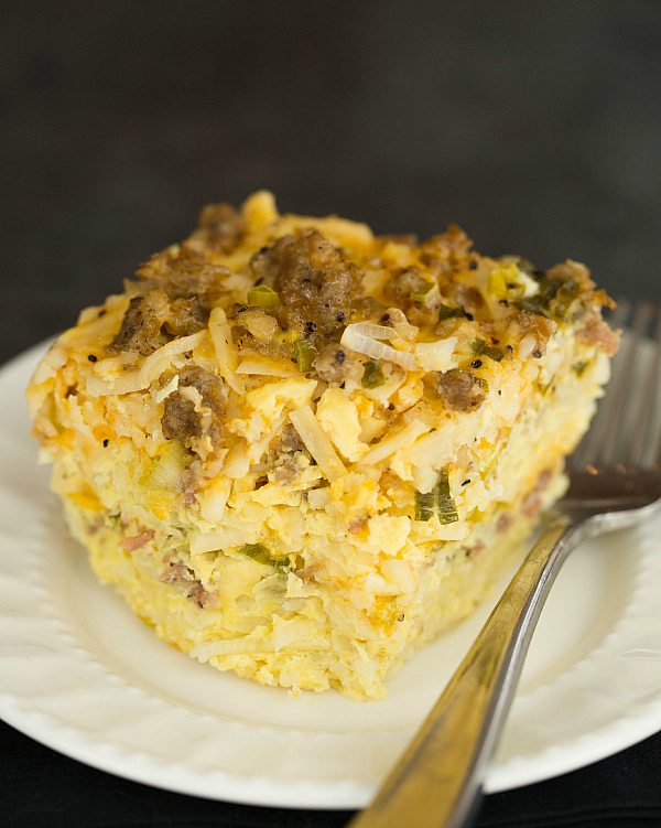 Sausage-Hash-Brown-and-Cheddar-Casserole