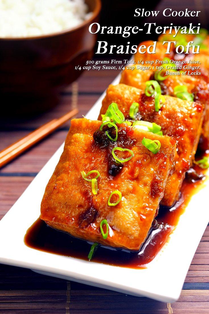 Slow cooker orange teriyaki tofu slow cooker orange teriyaki tofu full recipe on foodfornet forumfinder Gallery