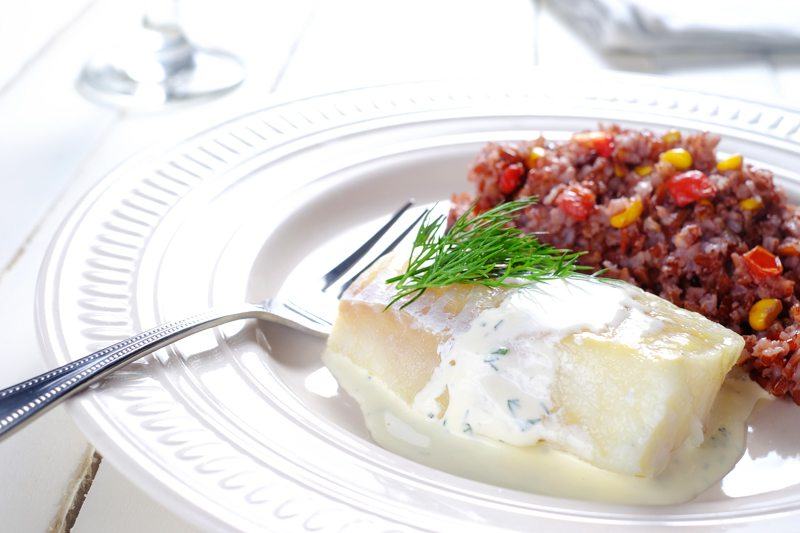 Sous Vide Cod Loins in White Wine Dill Sauce Recipe