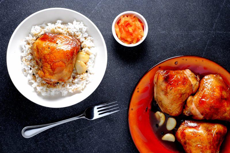 Sous Vide Crispy Chicken Adobo