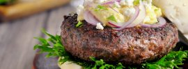 Sous Vide Greek Burger with Feta Cream
