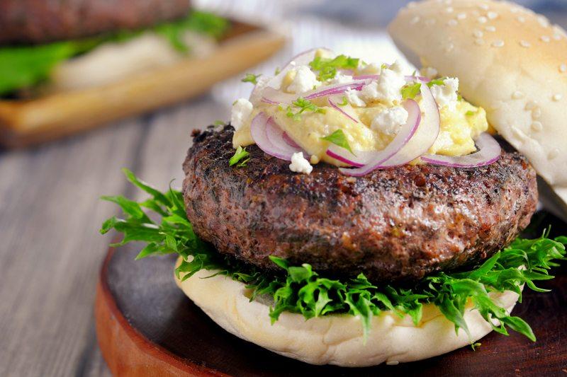 Sous Vide Greek Burger with Feta Cream Recipe