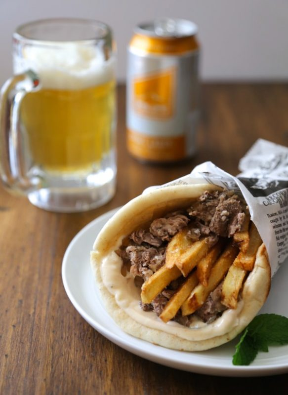 Spiced-Lamb-Gyros-with-Frites-and-Mint-Aioli