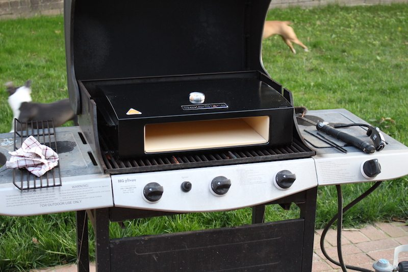 BakerStone Pizza Oven Box on Gas Grill