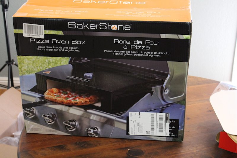 unboxing the bakserstone pizza oven box at home
