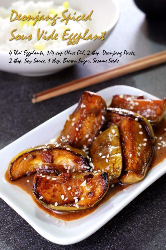 Deonjang-Spiced Sous Vide Eggplant
