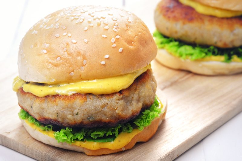 Sous Vide Cod Burgers with Curry Aioli