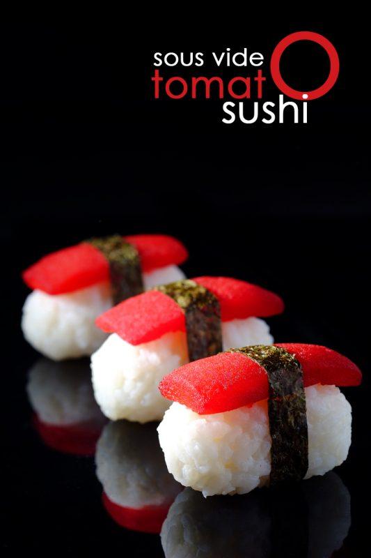 Sous Vide Tomato Sushi