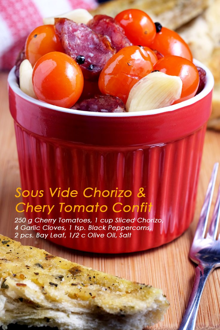 Sous Vide Chorizo and Cherry Tomato Confit Full Recipe on FoodForNet.com