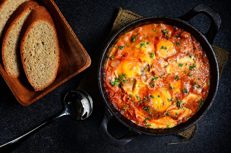 Cheesy Shakshuka