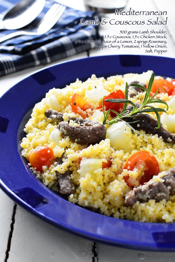 Mediterranean Lamb and Couscous Salad Full Recipe on FoodForNet.com