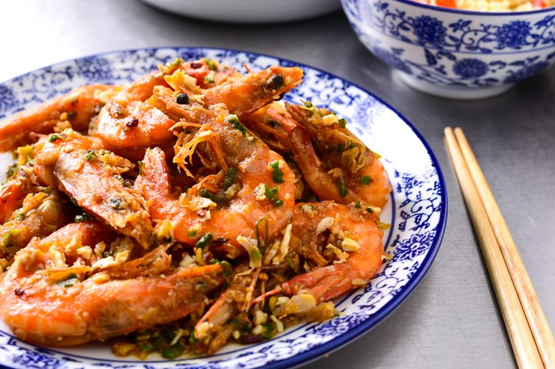 Salted Egg Prawns Recipe