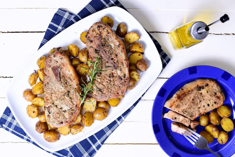 Sous Vide Greek Pork Chops Recipe