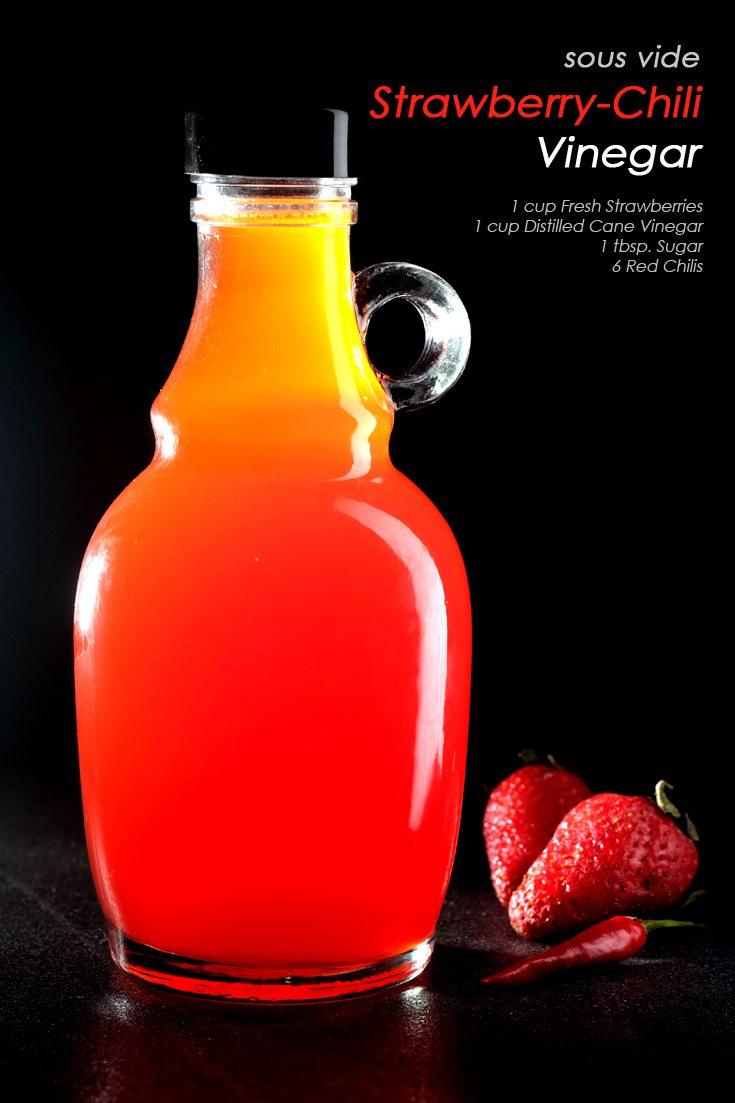 Sous Vide Strawberry-Chili Vinegar Full Recipe on FoodForNet.com
