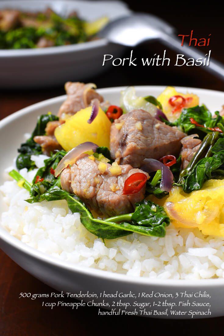 Thai Pork with Basil Full Recipe on FoodForNet.com