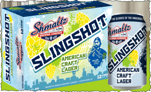 slingshot american craft lager from shmaltz brewing company