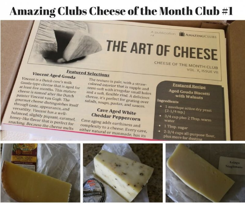 Amazing Clubs Cheese of the Month Club first shipment