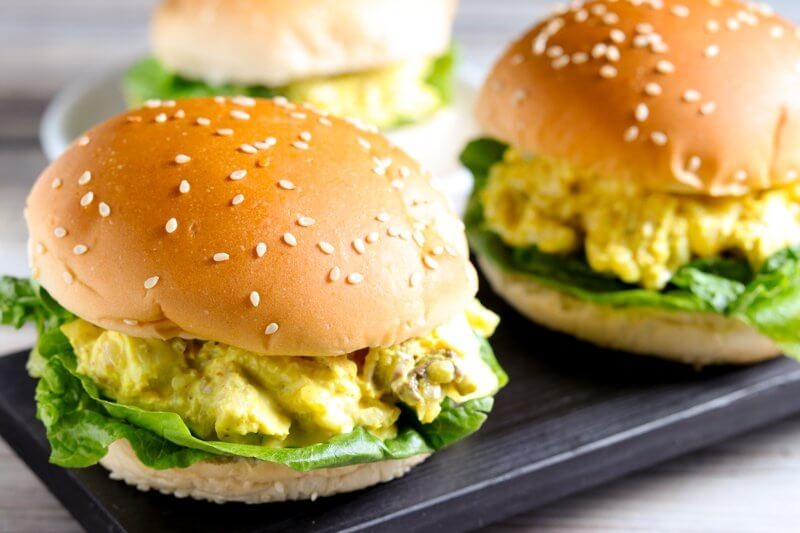 Curried Chicken and Pineapple Sliders