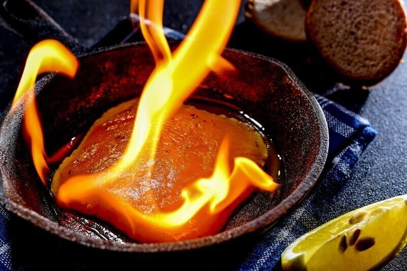 Flaming Cheese Saganaki