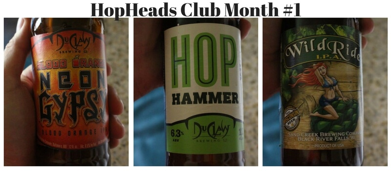 HopHeads IPAClub Month one three different hoppy beers
