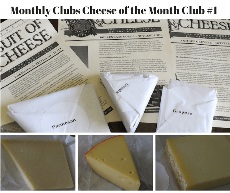 Monthly Clubs Cheese of the Month Club first shipment
