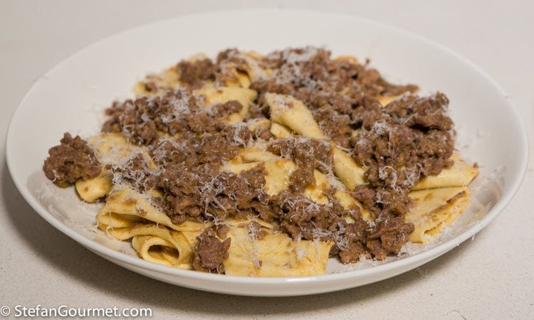 Pasta with Sous Vide Wild Boar Ragu