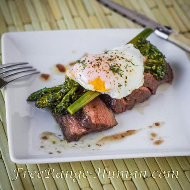 Sous Vide Sirloin Steak and Eggs