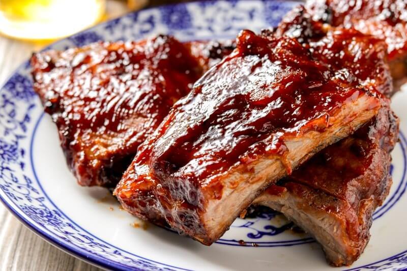 Ponzu-Glazed Pork Spare Ribs