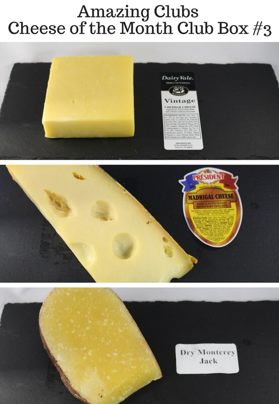 Amazing-Clubs-Cheese-of-the-Month-Club-Box-3 aged cheddar, swiss madrigal, dry monterey jack