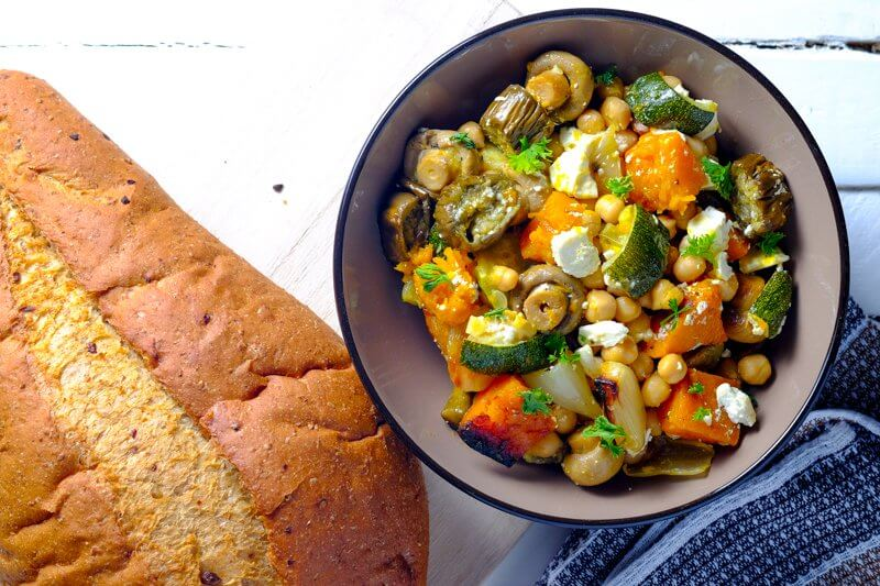 Curried Vegetable and Chickpea Salad