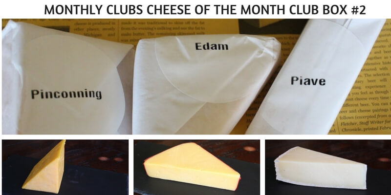 MONTHLY CLUBS CHEESE OF THE MONTH CLUB BOX #2