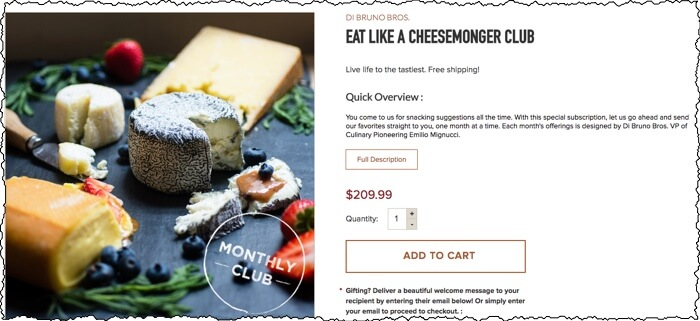 di bruno bros eat like a cheesemonger cheese of the month club screenshot