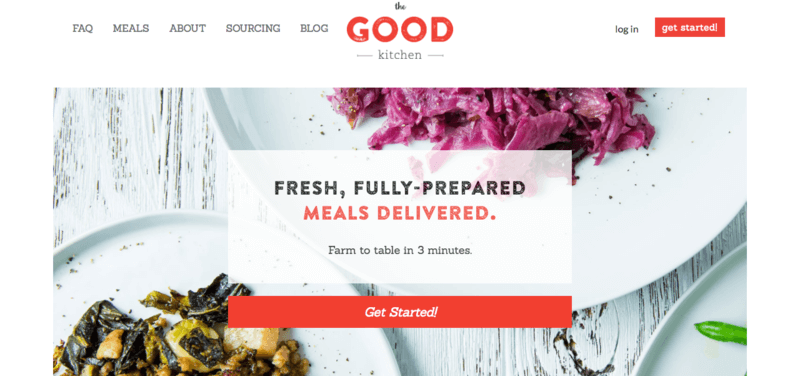 screenshot of good kitchen website showing two plates containing salad