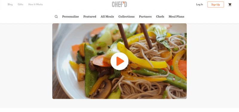 chef'd  website screenshot